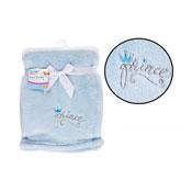 Super Soft Blue Fleece Baby Blanket