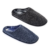 Mens Two Tone Soft Mule Slippers