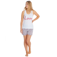Ladies Love Vest And Shorts Set