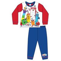 Boys Toddler Official Number Blocks Pyjamas