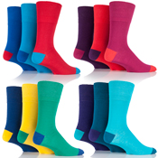 Mens Gentle Grip Colourburst Socks