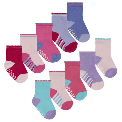 5 Pairs Baby Socks With Grip Bottom Stripes