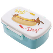 Hot Dog Sausage Dog Single Lunch Box Jack  Evans