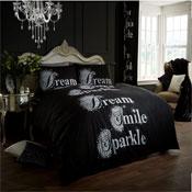 Modern Style Duvet Set Black