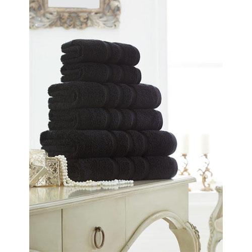 Supreme Cotton Hand Towels Black