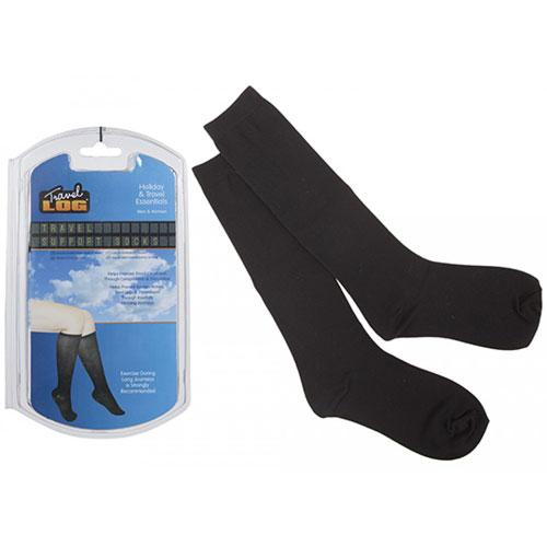 Unisex Black Travel Support Socks