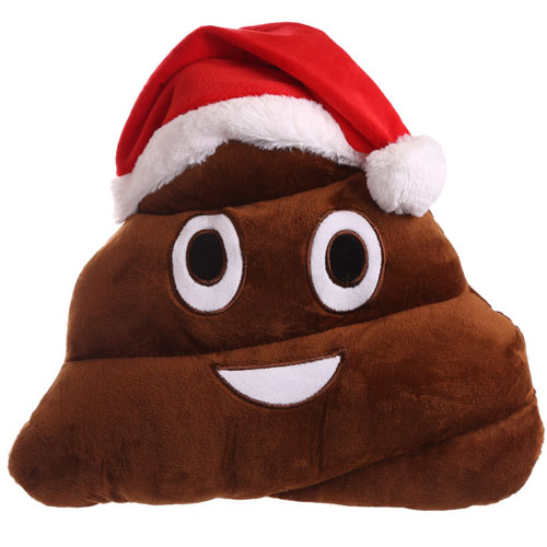 Christmas Plush Poo Cushion
