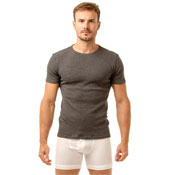 Haigman Crew Neck Thermal T-Shirt Grey