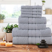 Luxurious 8 Piece Towel Bale Set Silver