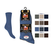 Mens Big Foot Cotton Socks 11-14