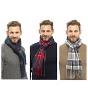 Mens Checkered Scarf
