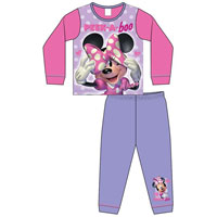 Girls Toddler Official Minnie Mouse Peek-A-Boo Pyjamas