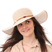 Ladies Wide Brim Straw Hats