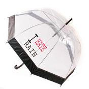 Hate Rain Print Umbrellas