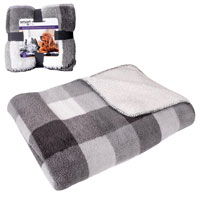 Luxury Sherpa Double Sided Pet Blanket Grey