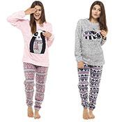 Ladies Printed Slogan Pyjama Set Animal