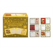 100 Traditional Christmas Gift Labels on Self Adhesive Roll