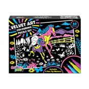 Velvet Art Colouring Jigsaw Puzzle Set