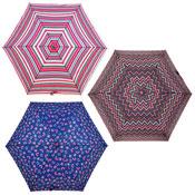 Owl Zig Zag Stripe Fashion Print Umbrella