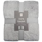 Grey Inara Glitter Design Blanket Throw