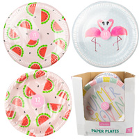 Summer Paper Plates 12 Pack