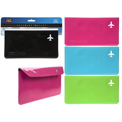 Neon Colour Travel Document Wallet