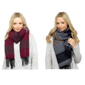 Ladies Tribal Pattern Fleece Scarf
