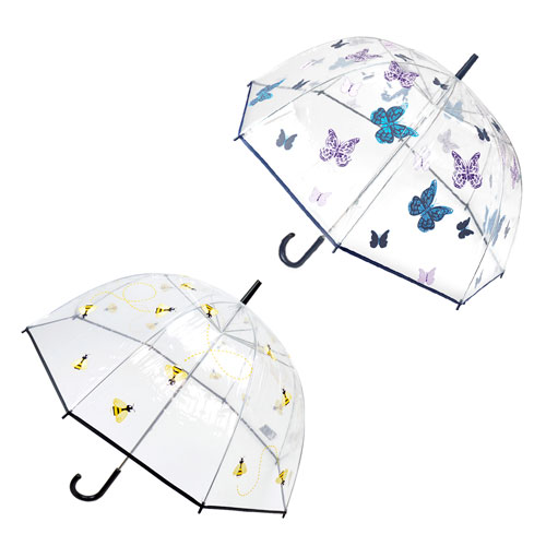 Ladies Butterfly And Bees Dome Umbrella