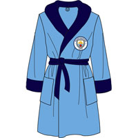 Official Mens Manchester City Fleece Dressing Gowns