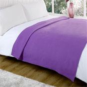 Snug and Cosy Lilac Fleece Blanket