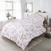 Monochrome Floral Blush Reversible Duvet Set