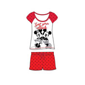 Ladies Minnie Mouse Shortie Pyjama Set