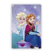 Official Frozen Transparent Character Fleece Blanket Throw