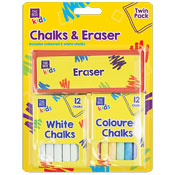Chalk & Eraser Set 13 Piece