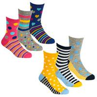 Girls 3 Pack Design Socks Spots Assorted