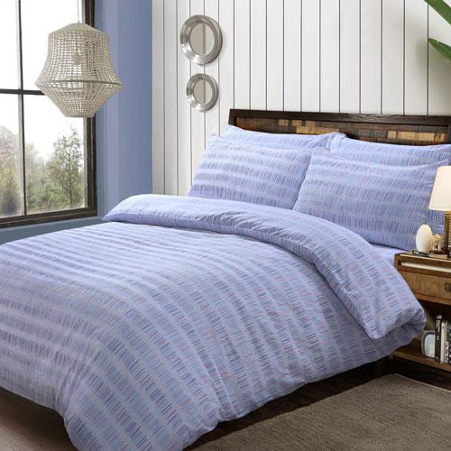 Seersucker Stripe Multi Duvet Set