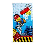 Lego City Construction Beach Towel