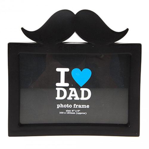 Best Dad Ever Moustache Photo Frame