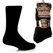 Mens Extra Wide Thermal Wool Blend Socks