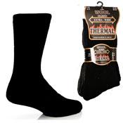 Mens Extra Wide Thermal Wool Blend Socks