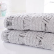 Spa Luxury Cotton Bath Towels Silver