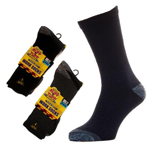 Mens Ruff & Tuff Workwear Work Socks