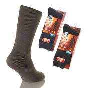 Mens Heat Control Thermal Socks Dark Colours