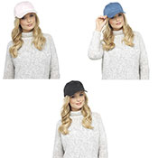 Ladies Faux Suede Baseball Cap