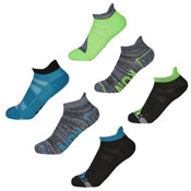 Boys Sport Trainer Liner Socks Run/Walk Dye