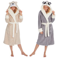 Ladies Snuggle Novelty Hooded Gown