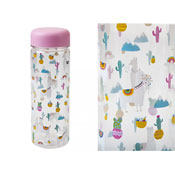Llama Love Print Water Bottle