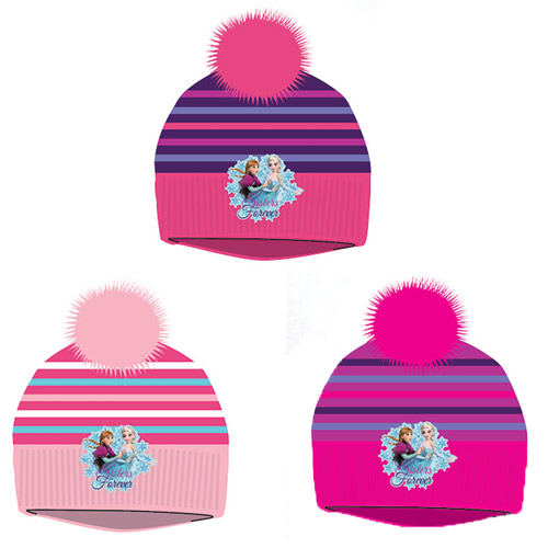 Official Frozen Sisters Girls Pom Pom Hat