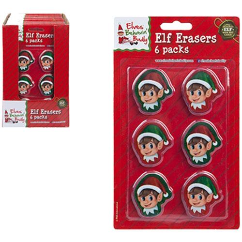 Christmas Elf 2D Head Shape Eraser