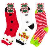 Ladies Christmas Design Cosy Socks